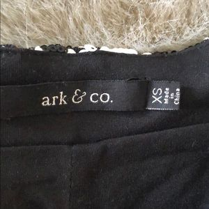Ark & Co Shorts - Black and white sequin shorts
